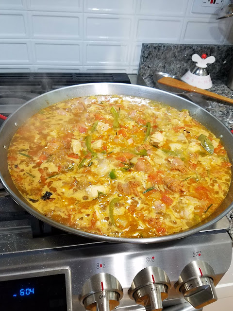 Paella recipe.