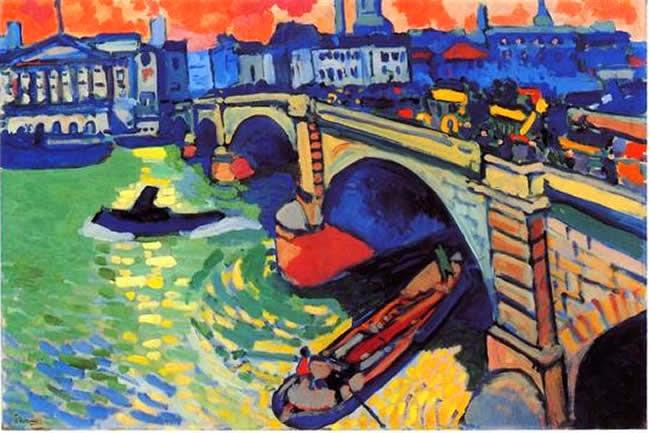 Ponte em Londres - André Derain e suas principais pinturas ~ (Fauvismo) Francês