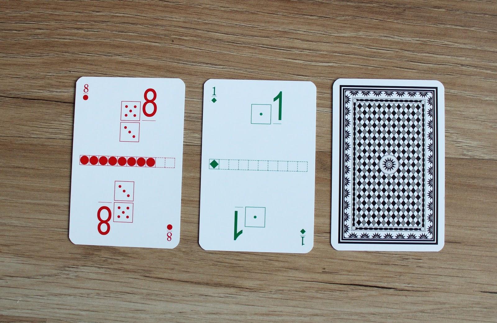 Karty Grabowskiego  dodawanie i Odejmowanie gra rodzynek