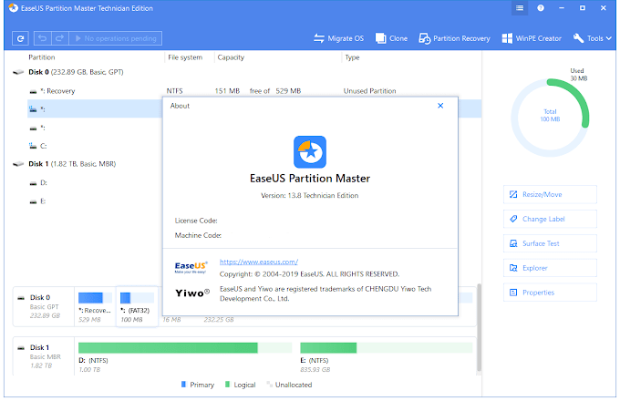 EaseUS Partition Master 14.5 and 13.5 All Editions + WinPE
