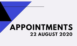 Appointments on 22 August 2020