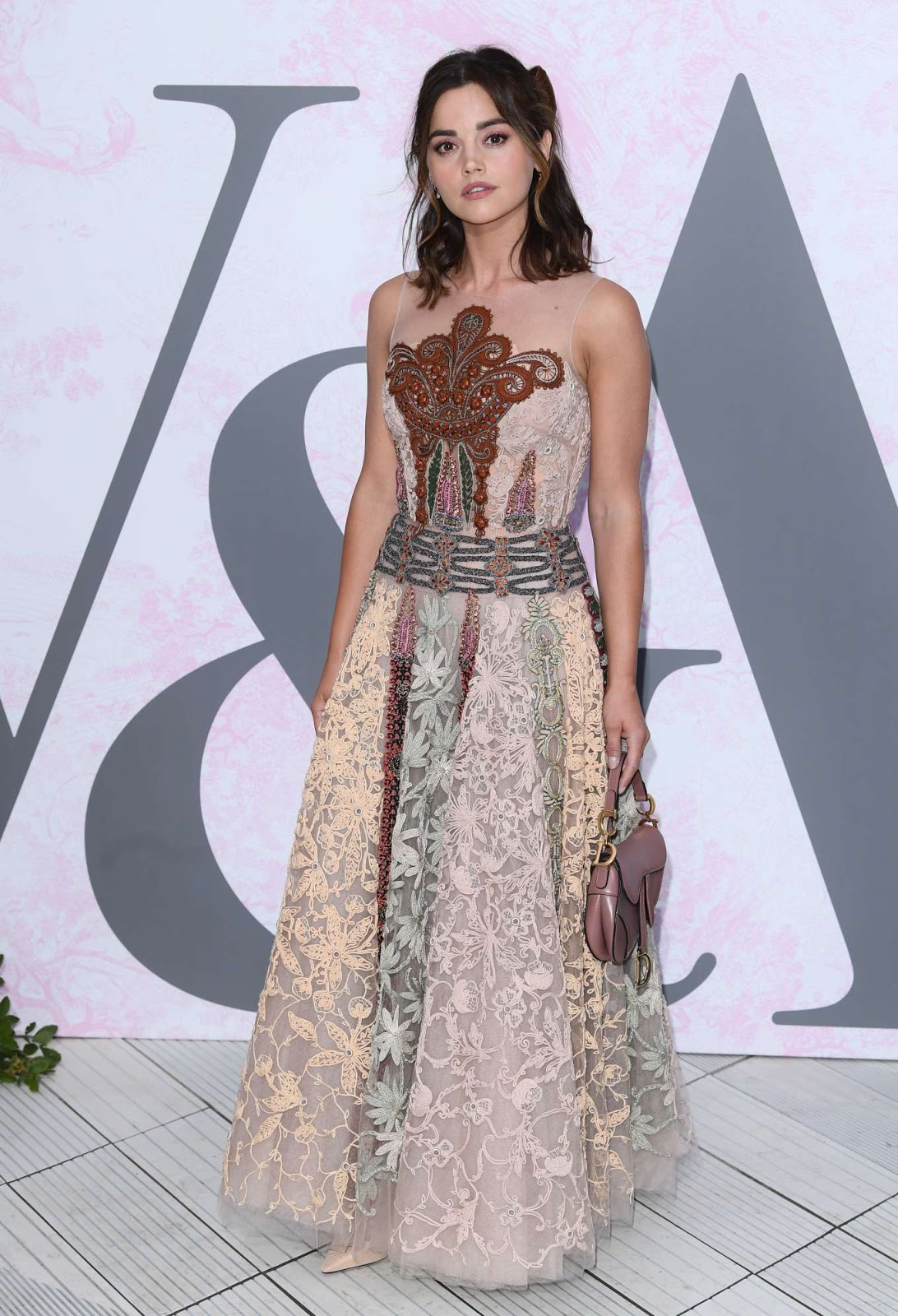 Jenna Coleman wears Dior Couture for the V&A Summer Party