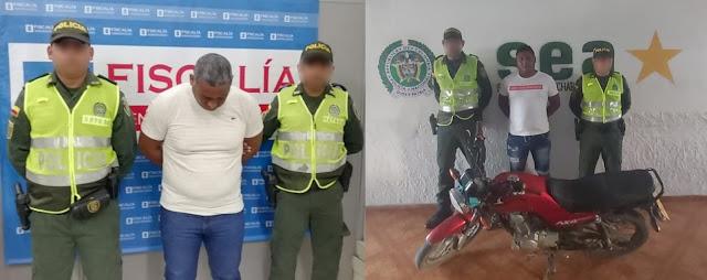 Uno tenía casa por cárcel y lo cogieron viajando; el otro andaba en una moto robada