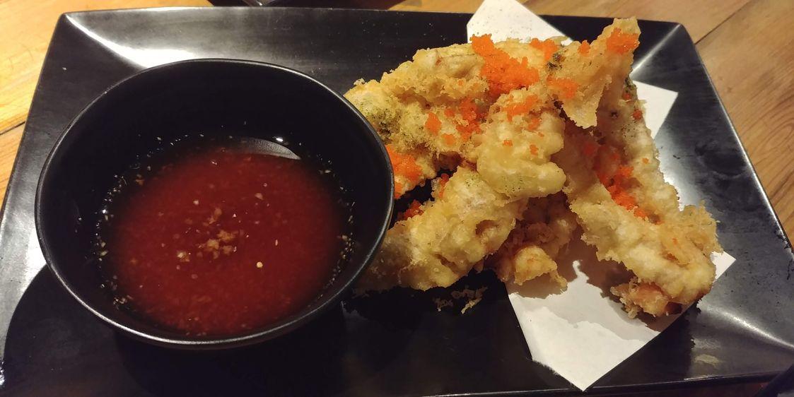 Softshell crab tempura at Ooma Japanese Restaurant