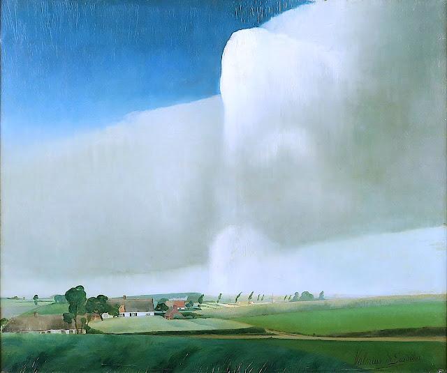 a Valérius de Saedeleer painting of unusual weather