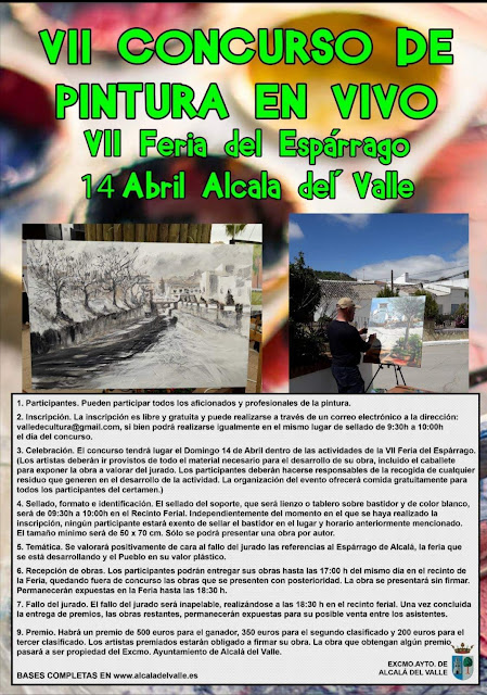 Cartel concurso de pintura, Feria del Espárrago en Alcalá del Valle