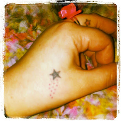 Small Shooting Star Tattoo for hand