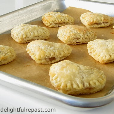 Pastry Heart Jam Tarts / www.delightfulrepast.com