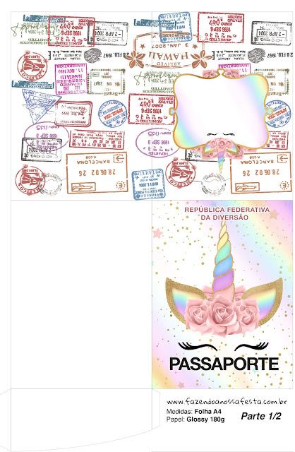 Unicornio y Arco Iris: Imprimibles Gratis para Fiestas.