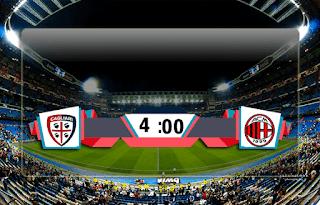 اهداف مباراة ميلان وكالياري (2-0) الدوري الايكالي