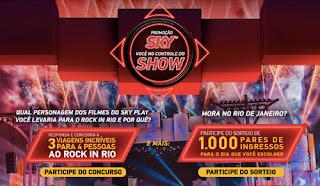 Promoção Você no Controle do Show Sky