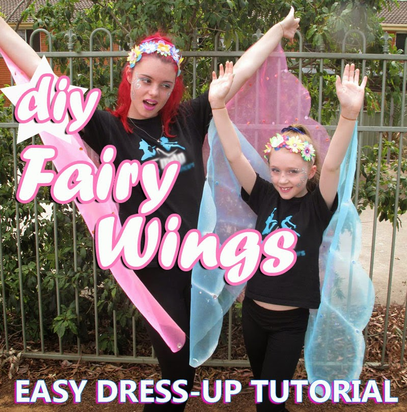 Cheap & Easy FAIRY WINGS Tutorial NO SEW