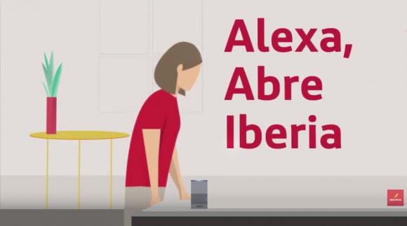 Alexa, mi tarjeta de embarque para volar con Iberia