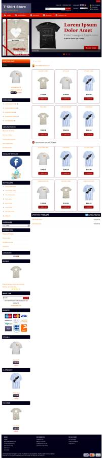 Free osCommerce 2.3.3 Template for T-shirt Store