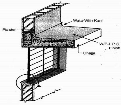 details chajja waterproofing