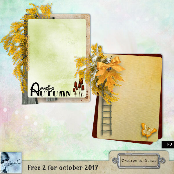 FREEbie: Decorated Autumn Journal Cards from Louise L