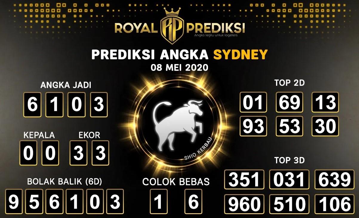 Prediksi Togel Sydney Jumat 08 Mei 2020 - Royal Prediksi Sydney