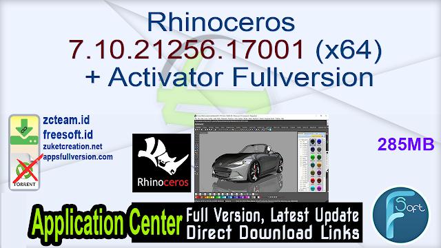 Rhinoceros 7.10.21256.17001 (x64) + Activator Fullversion