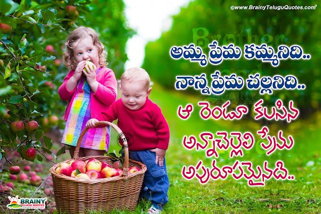 sister kavithalu in telugu, nice sister words in telugu, sister greatness quotes messages in telugu