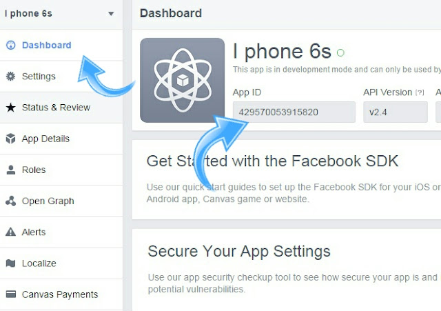 Get App ID From Dashboard