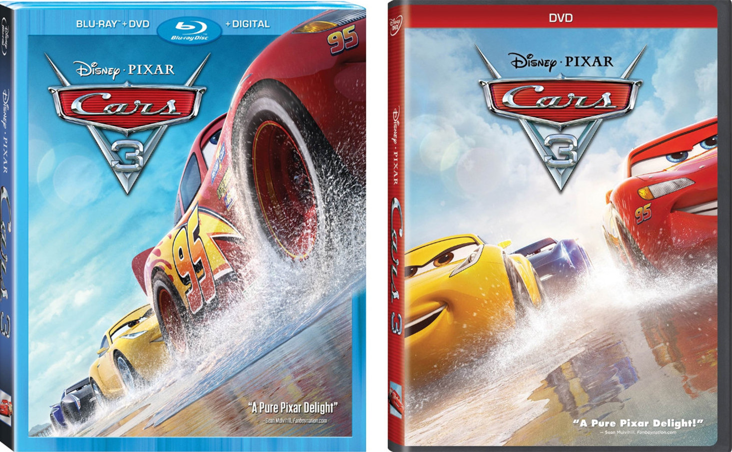when is cars 3 on blu ray