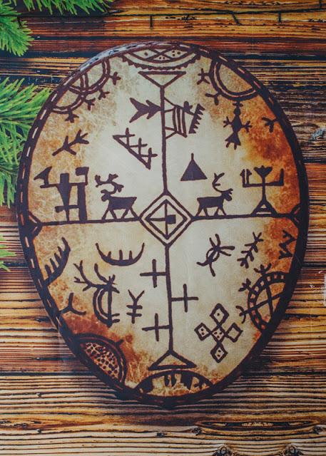 Изображение шаманского бубна