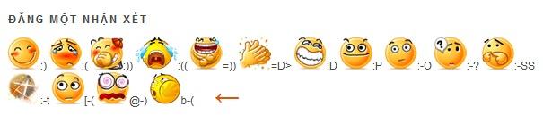 Tạo emoticon khi comment trên Blogspot  Bài 4. Blogger – Hướng dẫn SEO cho Blog tao emoticon khi comment tren blogspot