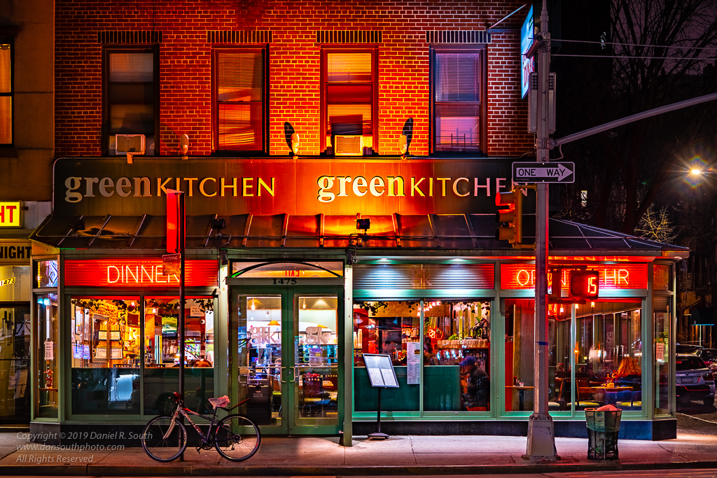 a photo of a new york diner at night by daniel south