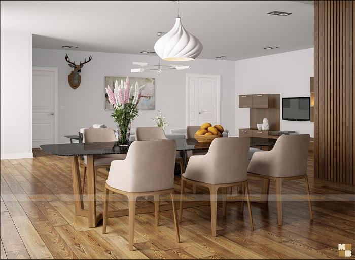 Thiết kế căn hộ 2 phòng ngủ hiện đại, đẹp mê ly - H2