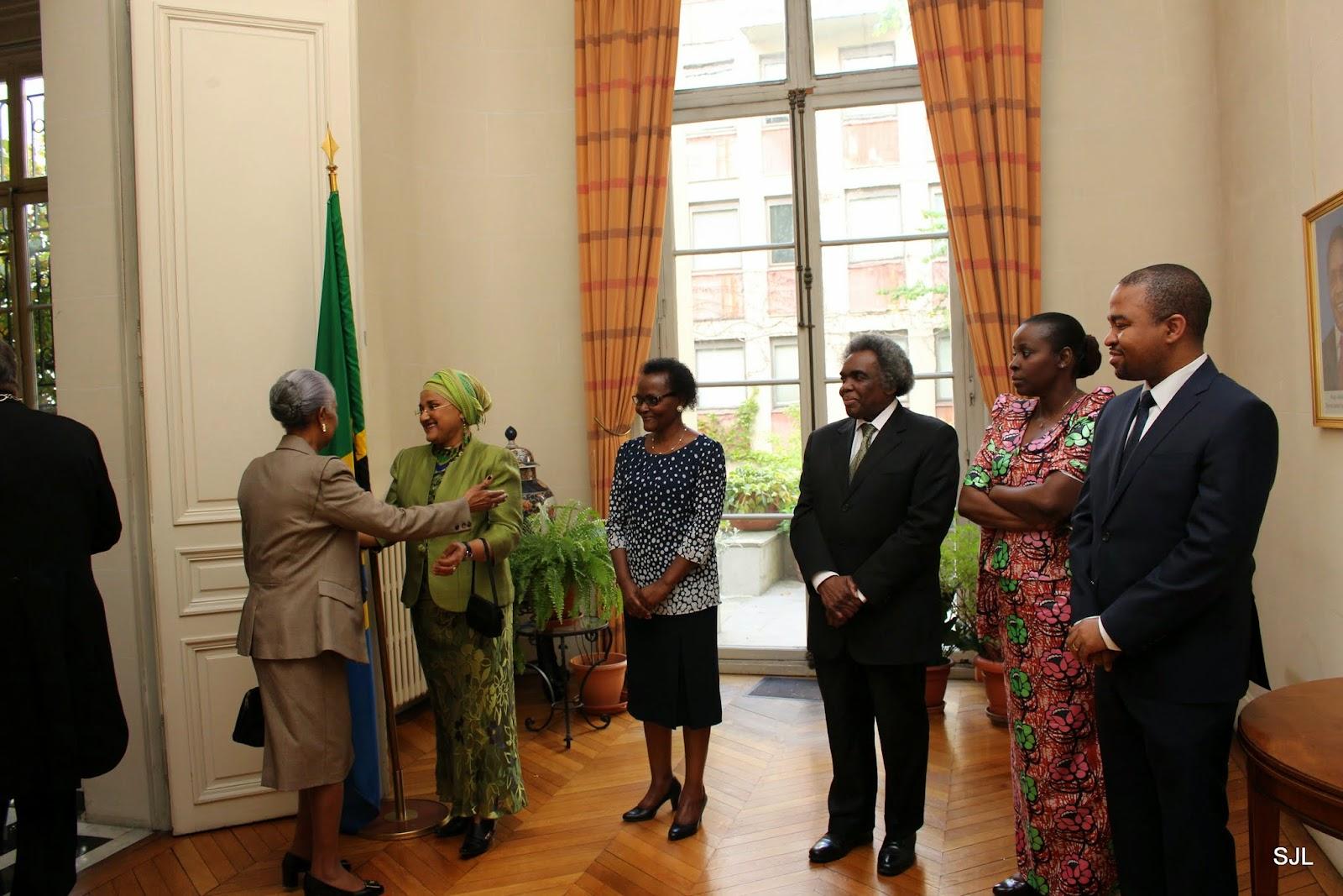 Barber Embassy : From Left: H.E Mrs Hilia Gomez Garez Lima Barber (Guinea Bissau ...