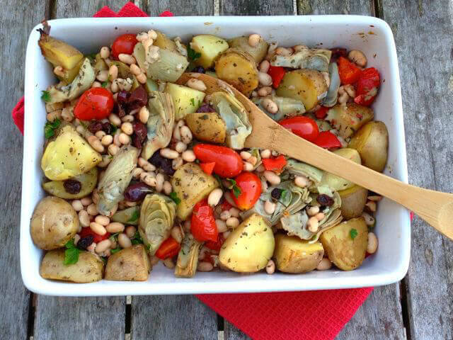 16 Vegan One-Pot Recipes If Your Are Considering Cutting Animals Out Of Your Diet - Chickpea & Artichoke 'Bliss in a Dish' One-Pot Wonder