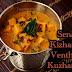 Senai kizhangu venthaya keerai kuzhambu/Yam methi curry