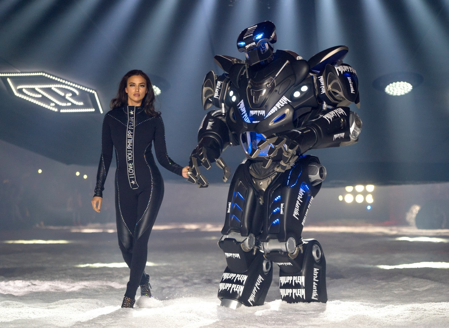Philipp Plein takes NY Fashion Week on snowy spaceship ride