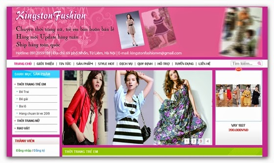 Thiết kế web bán thời trang online