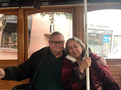 The two of us on the San Francisco Cable Car.