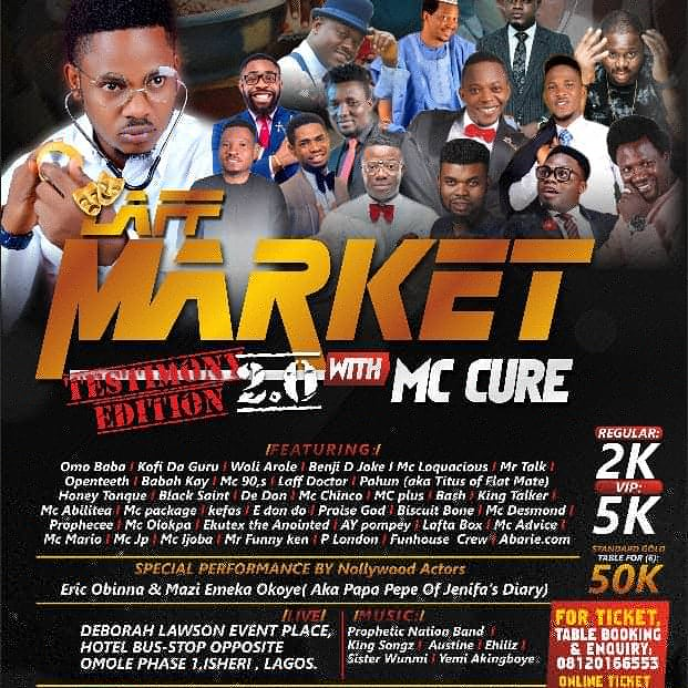 [EVENTS] Laff Market with Mc Cure | The testimony Edition