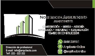 diseños de tarjetas de presentación para arquitecto mÍralos