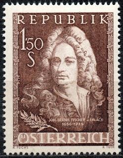 Austria  1956 Johann Bernhard Fischer von Erlach