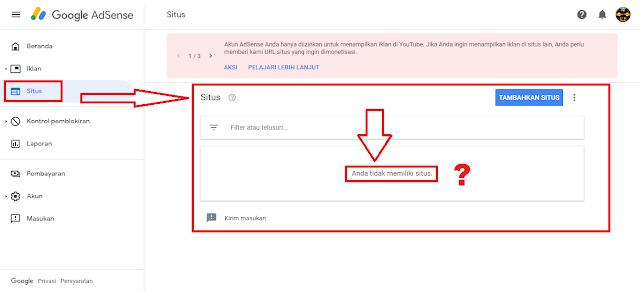 Situs Blog Tidak Berhasil Ditambahkan ke Adsense