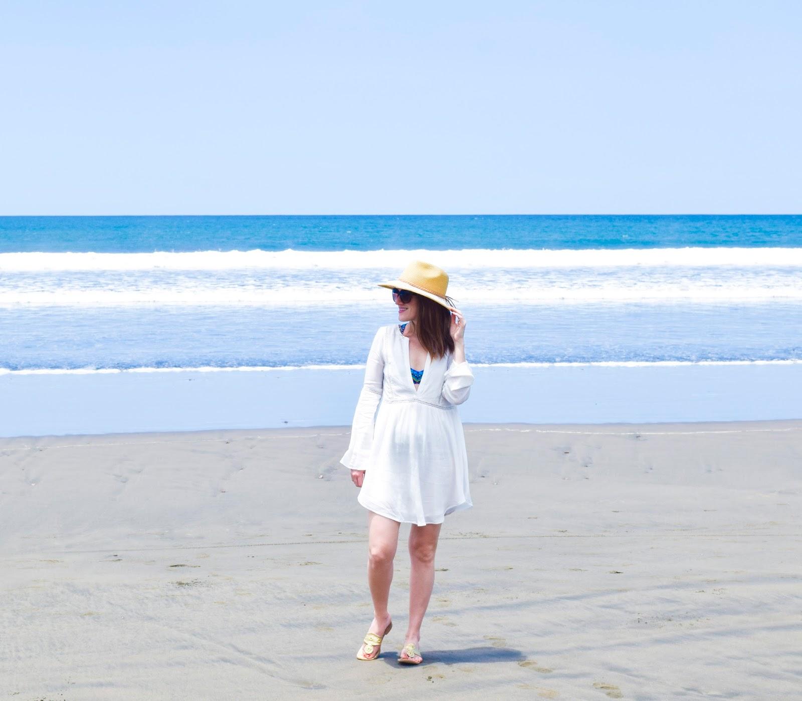 White Tunic Dress from Beach to Bar
