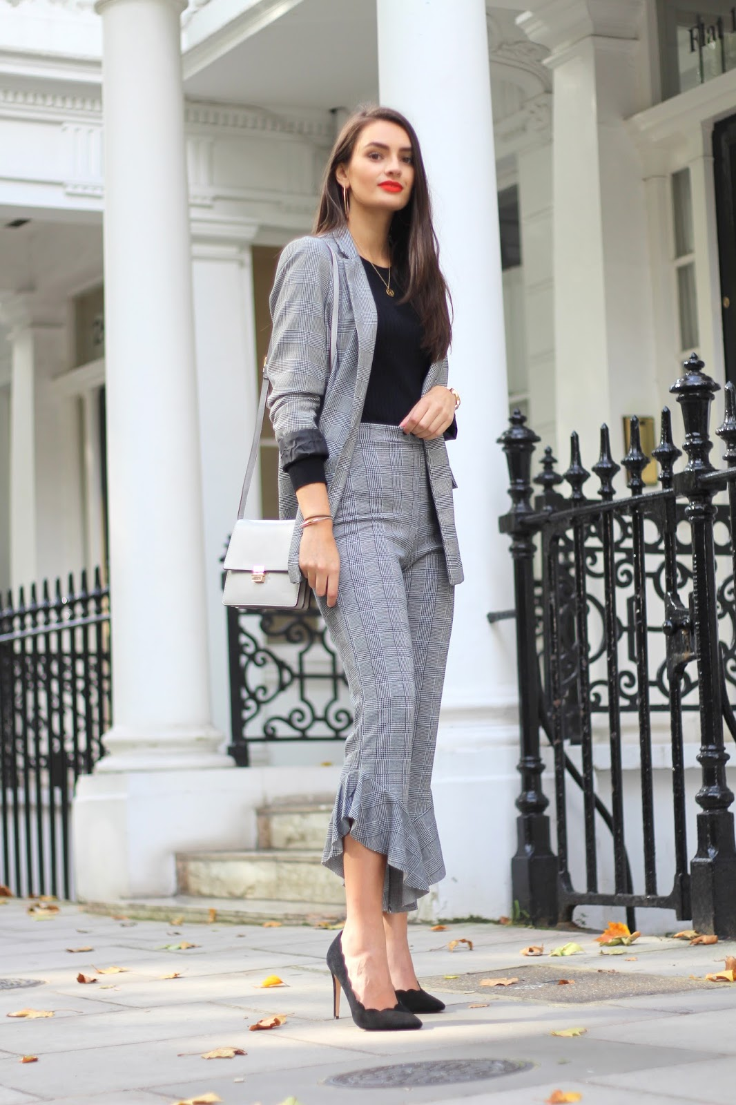 peexo fashion blogger prince of wales check blazer