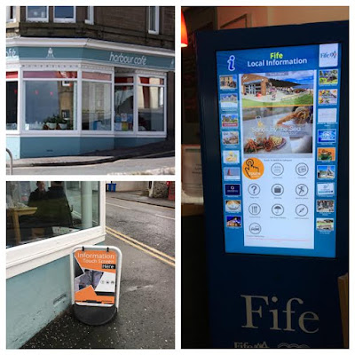 Harbour Cafe Tayport with Touch Screen Tourist Information
