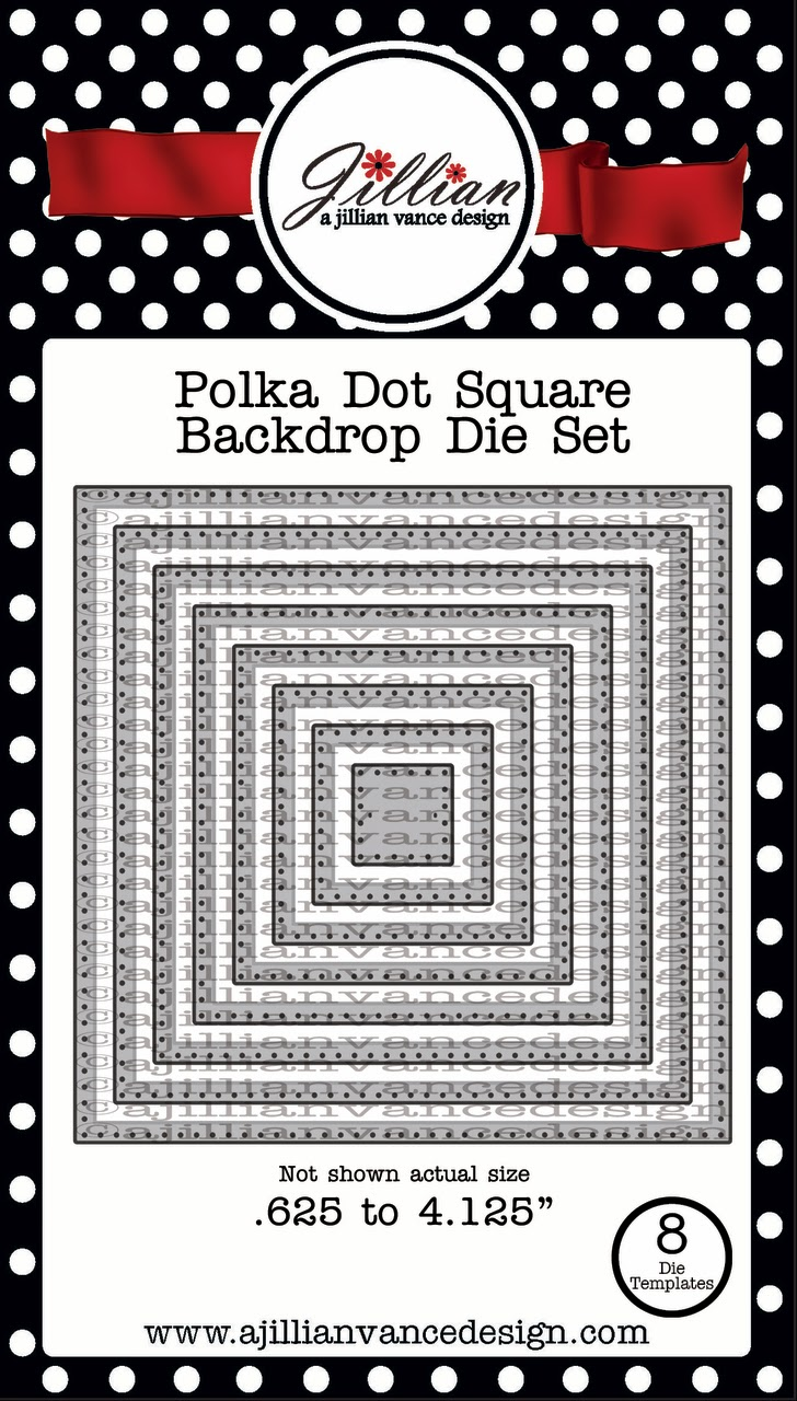 polka dot square backdrop die set
