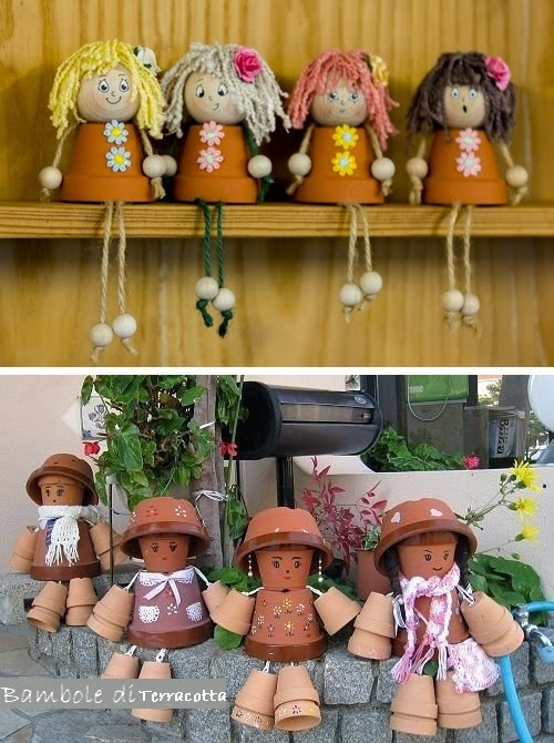 vasi terracotta decorazioni fai da te : ... terracotta,sono unidea divertente per rendere pi? bello il vostro