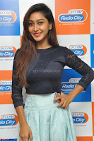 Shravya in skirt and tight top at Vana Villu Movie First Song launch at radio city 91.1 FM ~  Exclusive 14.JPG