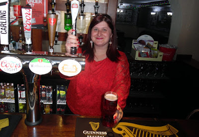 Sarah Hardy - the new landlady of the Woolpack Hotel in Brigg town centre - May 2019