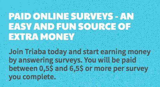 Cách kiếm tiền khảo sát trên trang Triaba Panel