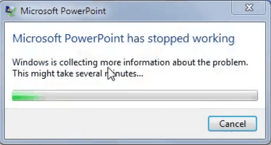 Ms PowerPoint Has Stopped Working