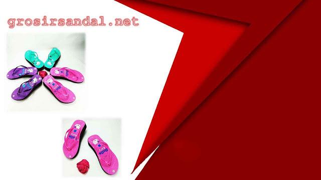 SANDAL DEWASA | SIZE 36-40 | SANDAL SPON TEBAL MOTIF