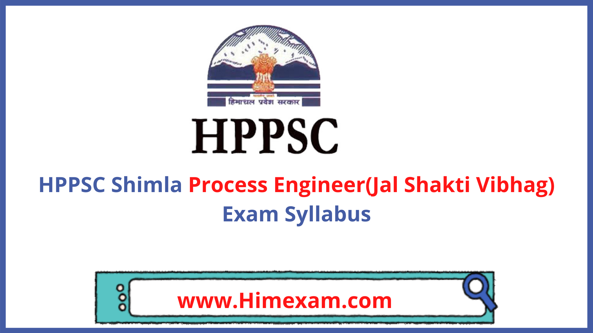 HPPSC Shimla Process Engineer(Jal Shakti Vibhag) Exam Syllabus